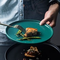 京樱 陶瓷餐盘 8英寸 莫兰迪色款