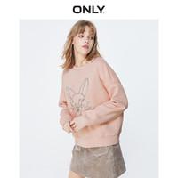 0点:ONLY2019秋冬新款洋气刺绣宽松卡通加绒休闲卫衣女|11939S571