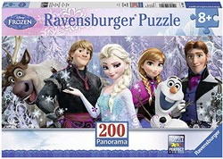 Ravensburger 睿思 拼图 迪士尼系列冰雪奇缘全景图 200片 R128013
