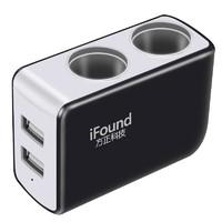 移动端 : iFound 方正科技 FZ-24 车载点烟器扩充器 2孔+2USB