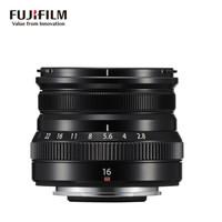 富士XF16mm F2.8 R WR 超广角定焦镜头 黑色 适合风景、肖像、街景拍摄