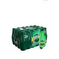 perrier 巴黎水 天然气泡矿泉水(原味)塑料瓶装 500ml*24瓶/箱