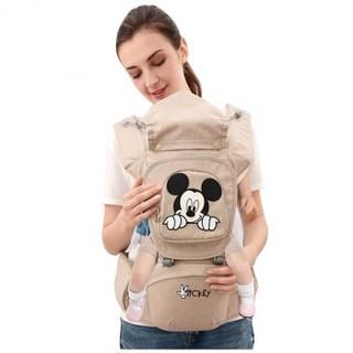 Disney 迪士尼 前抱式双肩背带 米色 D02-2D