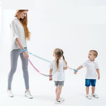 博比龙 宝宝防走失肩带牵引绳四季通用便携式溜娃神器儿童防丢失背带绳子 天蓝色 1.5米 (蓝色)