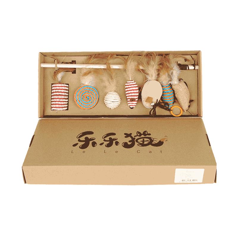 hoopet 华元宠具 华元逗猫棒礼盒装7件套 猫咪磨牙玩具