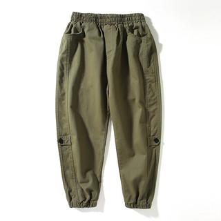 Tomy&Sasa 19QK-813 男童工装裤 休闲长裤2019秋款新款中大童束脚裤 (绿色、120cm、男)