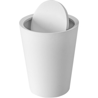京东PLUS会员 : 汉世刘家 翻盖垃圾桶 白色 *3件