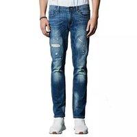 男式潮流修身直筒牛仔裤