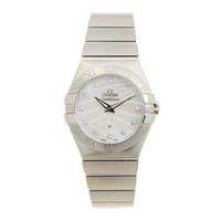 OMEGA 欧米茄 星座系列 精钢 白色 石英机芯 手表 123.10.27.60.55.003