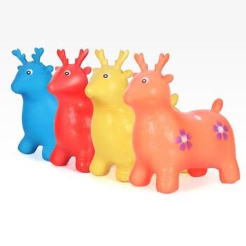 哈树比 儿童音乐跳跳小鹿 音乐摇马玩具