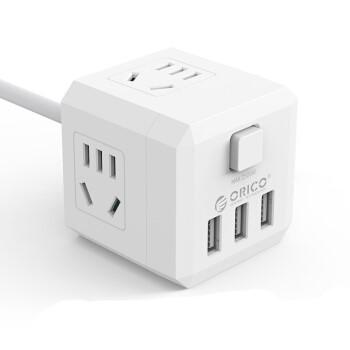 ORICO 奥睿科 NBR-4A3U USB魔方插座 (有线魔方插座、4孔)