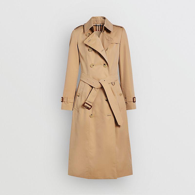 BURBERRY 博柏利 长款Heritage Trench风衣 (蜂蜜色、12)