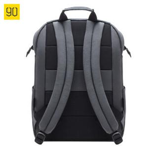 90分 大容量电脑包15.6寸 黑色通勤包 男士背包 轻便休闲双肩包男 旅行背包