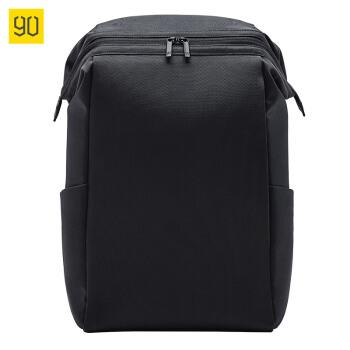 NINETYGO 90分 90分 大容量电脑包15.6寸 黑色通勤包 男士背包 轻便休闲双肩包男 旅行背包