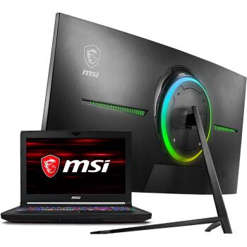 微星(MSI)[笔记本显示器套装]GT63 15.6英寸游戏本(i7-8750H GTX1070独显 120Hz 3ms)+PAG301CR 21:9 200HZ
