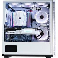 电铠(elecArmor)DK103 白色中塔式机箱(标配9把ARGB风扇/重达14kg/支持EATX主板/钢化玻璃/带风扇控制器)