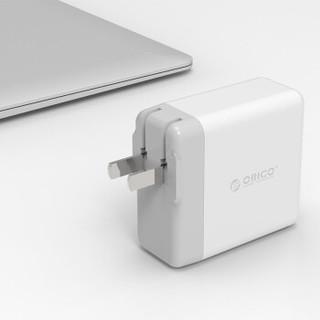 ORICO 奥睿科 多口智能充电器头一拖插式插座 4口USB充电头 白色