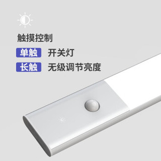 EZVALO 几光 LED智能人体感应附条形灯小夜灯 400mm 银色