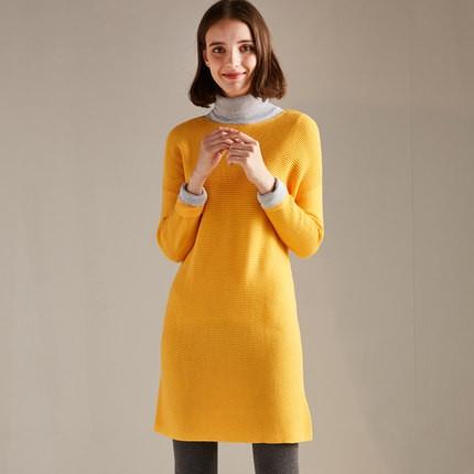 初棉 287616024S 女款中长款毛衣
