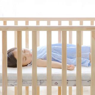 QBORN 贝影随行 BB01SS 婴儿床儿童拼接实木床小米生态  原木色