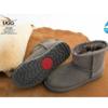 OZWEAR UGG 防水羊皮毛一体加绒雪地短靴(灰色)