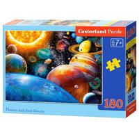 Castorland 巧思 018345 波兰进口拼图180片 儿童系列 太阳系