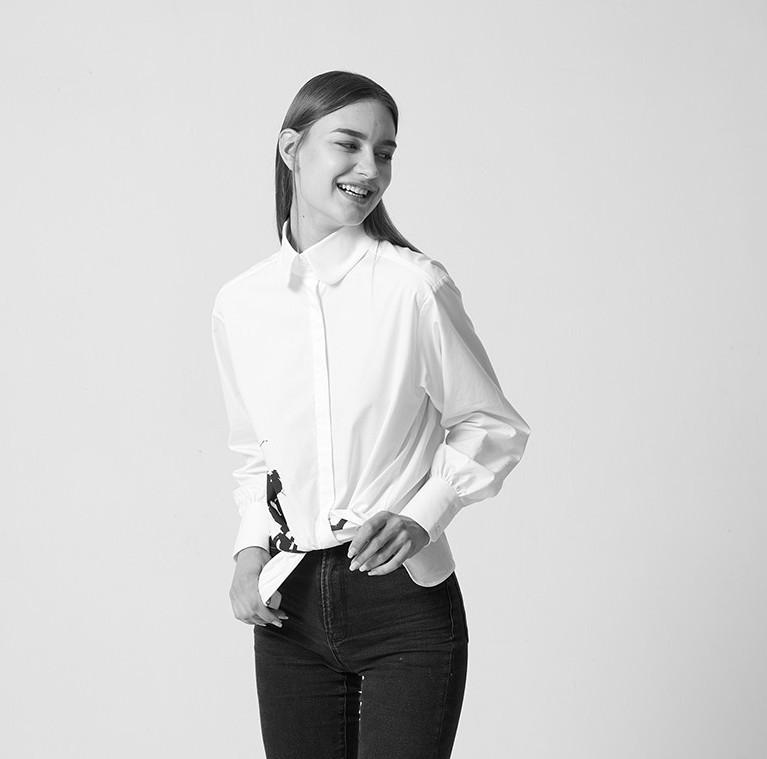 KARL LAGERFELD 卡尔·拉格斐 96KL1618100 女士长袖商务衬衫