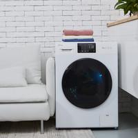 JIDE 吉德  洗烘套装  变频滚筒洗衣机 10KG 热泵式干衣机烘干机10KG 新品首发 白色