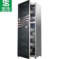圣托大型消毒柜家用立式 大容量厨房餐具保洁柜 商用不锈钢高温消毒碗柜 ZTD388-A10