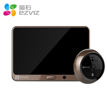 EZVIZ 萤石 DP1 智能家用电子猫眼门铃摄像头APP远程可视语音对讲4.3英寸屏 监视器 (智能摄像头、门铃/迎宾器、100万(720P))