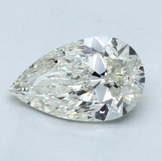 Blue Nile 2.01克拉 梨形钻石(切工VG,成色K,净度SI1)