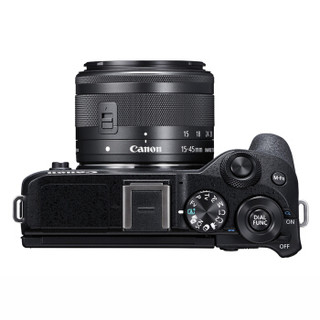 Canon 佳能 EOS M6 Mark II(EF-M 15-45mm f/3.5-6.3)无反相机套机 黑色