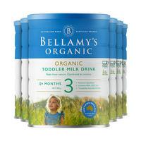 银联专享 : Bellamy's 贝拉米 新款有机婴幼儿配方奶粉 3段 900克*6罐