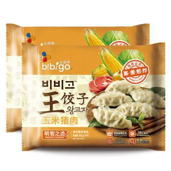 必品阁(bibigo)玉米猪肉王饺子 350g*2 水饺 蒸饺 煎饺 锅贴 早餐食材