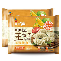 bibigo 必品阁 玉米 猪肉王 饺子 350g*2 袋 *4件