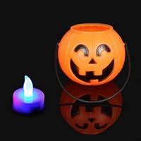 盛泉 万圣节手提南瓜罐+电子蜡烛