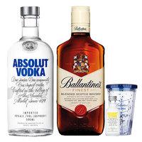 百龄坛特醇500ml+绝对伏特加原味500ml 洋酒 威士忌+伏特加 套装