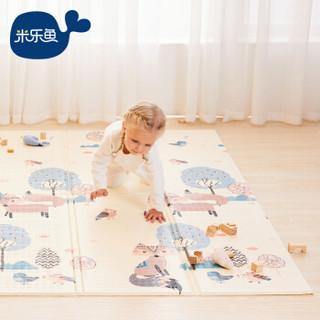 米乐鱼 地垫宝宝爬行垫儿童爬爬垫婴儿折叠垫子学爬垫加厚 狐狸蓝熊180码