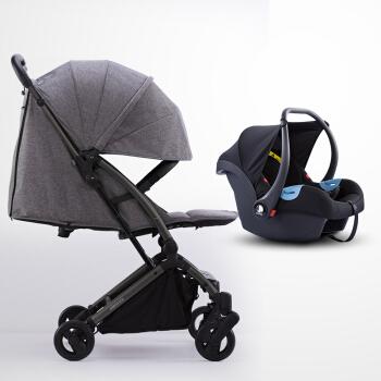 shuwei 述威 S2011 婴儿推车可坐可躺 全蓬乌金灰