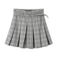 PEACEBIRD 太平鸟 AWGE83509 格子百褶裙半身裙裙裤 L