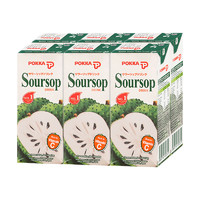 日本POKKA 刺果番荔枝释迦鲜果汁饮料250ml*6盒 鲜果汁饮料 *2件
