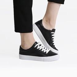 1日0点:InteRight 女士时尚牛皮低帮系带休闲鞋女鞋 *2件
