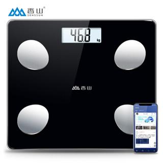 1日0点:香山智能体脂秤 电子秤体重秤人体秤 家用高精准体脂称 45项身体数据监测 蓝牙APP控制