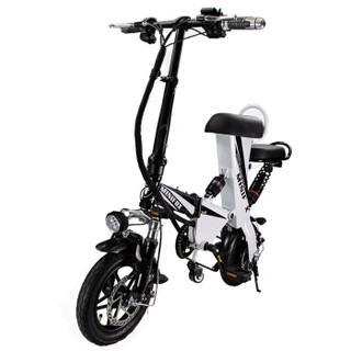索罗门(SOLOMO)电动自行车 成人代驾代步锂电折叠电动车 男女平衡滑板车电瓶车 双座白色 T16续航60-100公里
