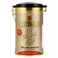 AKBAR 阿客巴 金罐锡兰红茶(大叶) 150g/罐 斯里兰卡进口