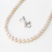 银联专享:Maria 7.5mm阿古屋珍珠项链+耳钉套装