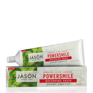 凑单品、银联专享 : Jason PowerSmile 天然无氟抗菌斑美白牙膏 170g