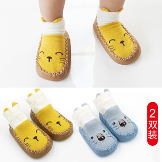 欧育 婴儿袜子 2双装 *3件