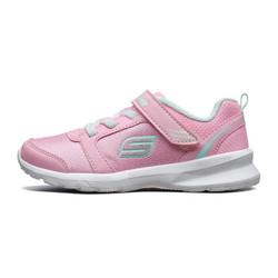 斯凯奇(Skechers)女童魔术贴舒适缓震护趾跑鞋 轻质网布透气运动鞋 996276L 浅粉色 28.5