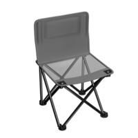 威野营(V-CAMP)户外折叠椅 便携式折叠椅子 简易钓鱼椅 靠背椅 写生椅 休闲马扎 小凳子(都市灰) *3件